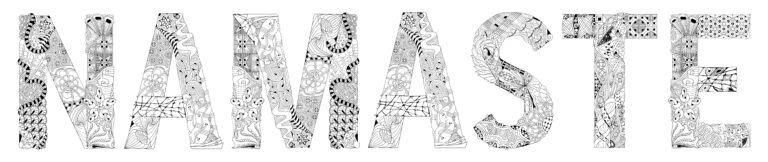 Word NAMASTE Yoga website design